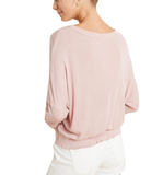 Dusty Pink Gathered Knot Front - Hudson Square Boutique