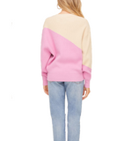 Colorblock Taupe + Pink Sweater