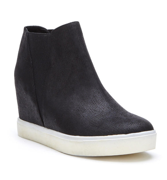 Matisse Black Lure Sneaker Wedge - Hudson Square Boutique LLC