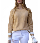 Mustard Varsity Sweater - Hudson Square Boutique