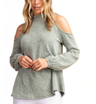 Open Shoulder Mock Neck Sweater