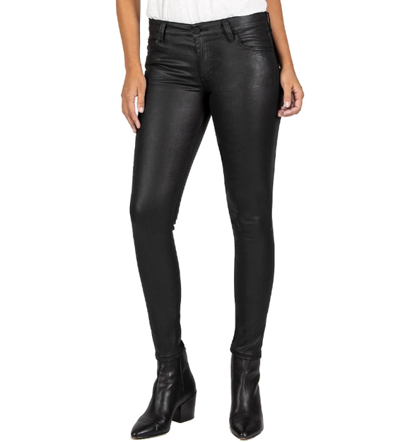 Mia Slim Fit Vegan Leather Skinny - Hudson Square Boutique