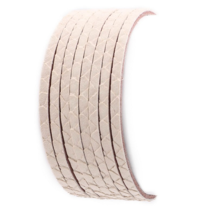 Vegan Leather Layered Bracelet