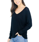 Shoulder Seam Waffle Top - Hudson Square Boutique