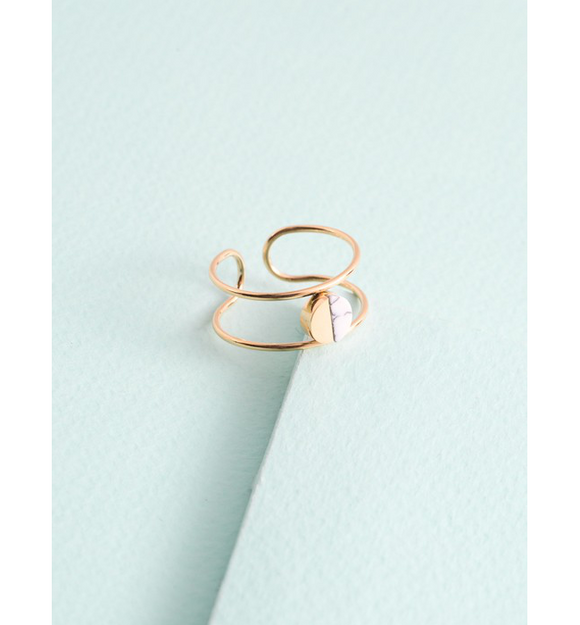 White Marble Ring - Hudson Square Boutique