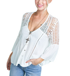 Southern Bell Lace Top in White