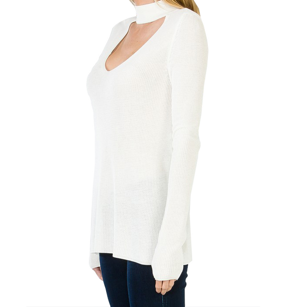 Ivory Open Front Top