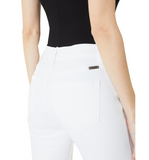 Cropped White Skinny Jeans - Hudson Square Boutique LLC