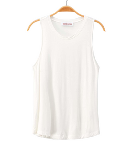 Charlie Tank in Off White - Hudson Square Boutique