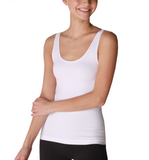 White Fitted Tank - Hudson Square Boutique