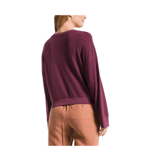 The Sweater Knit Notch Pullover
