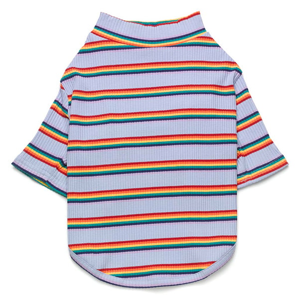 Rainbow Stripe Stretch Tee