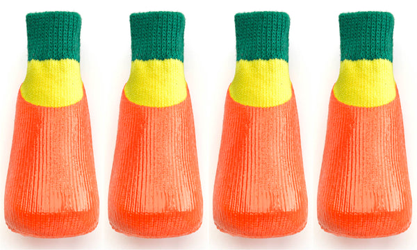 Rubber Dipped Socks - Orange