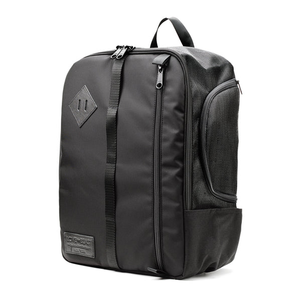 Black Nylon Canvas Backpack