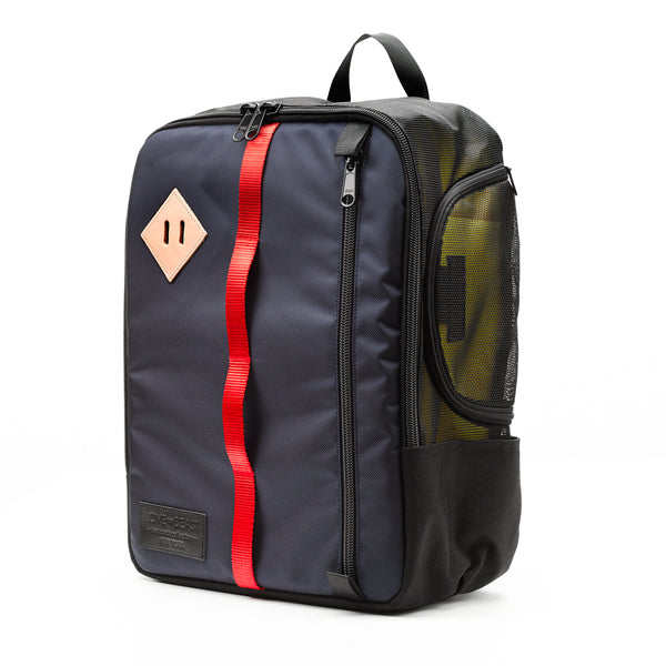 Navy Nylon Canvas Backpack