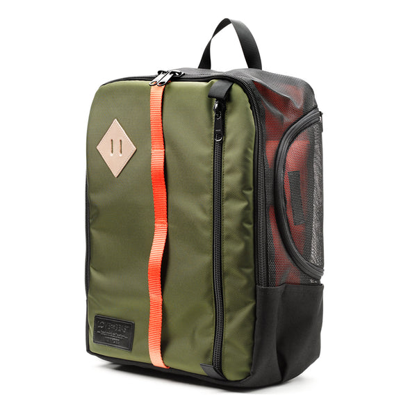 Olive Nylon Canvas Backpack