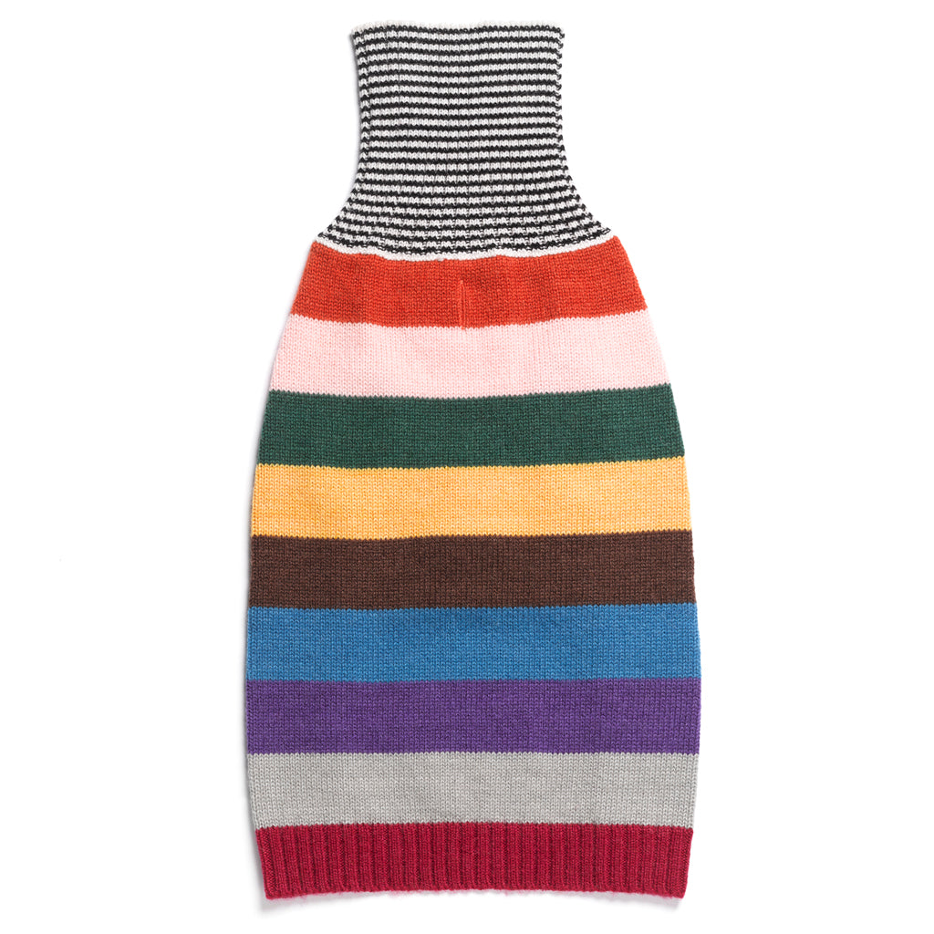 Rainbow Stripe Merino Wool Knit Sweater