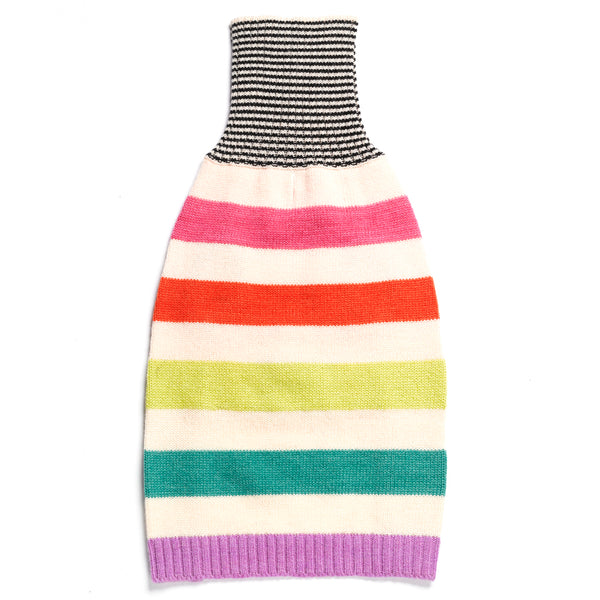 Light Rainbow Stripe Merino Wool Knit Sweater