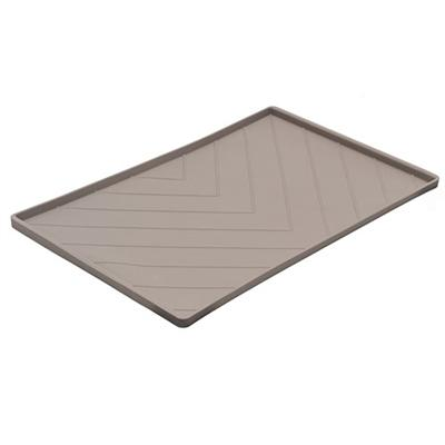 Chevron Silicone Food Mat - Dark Gray