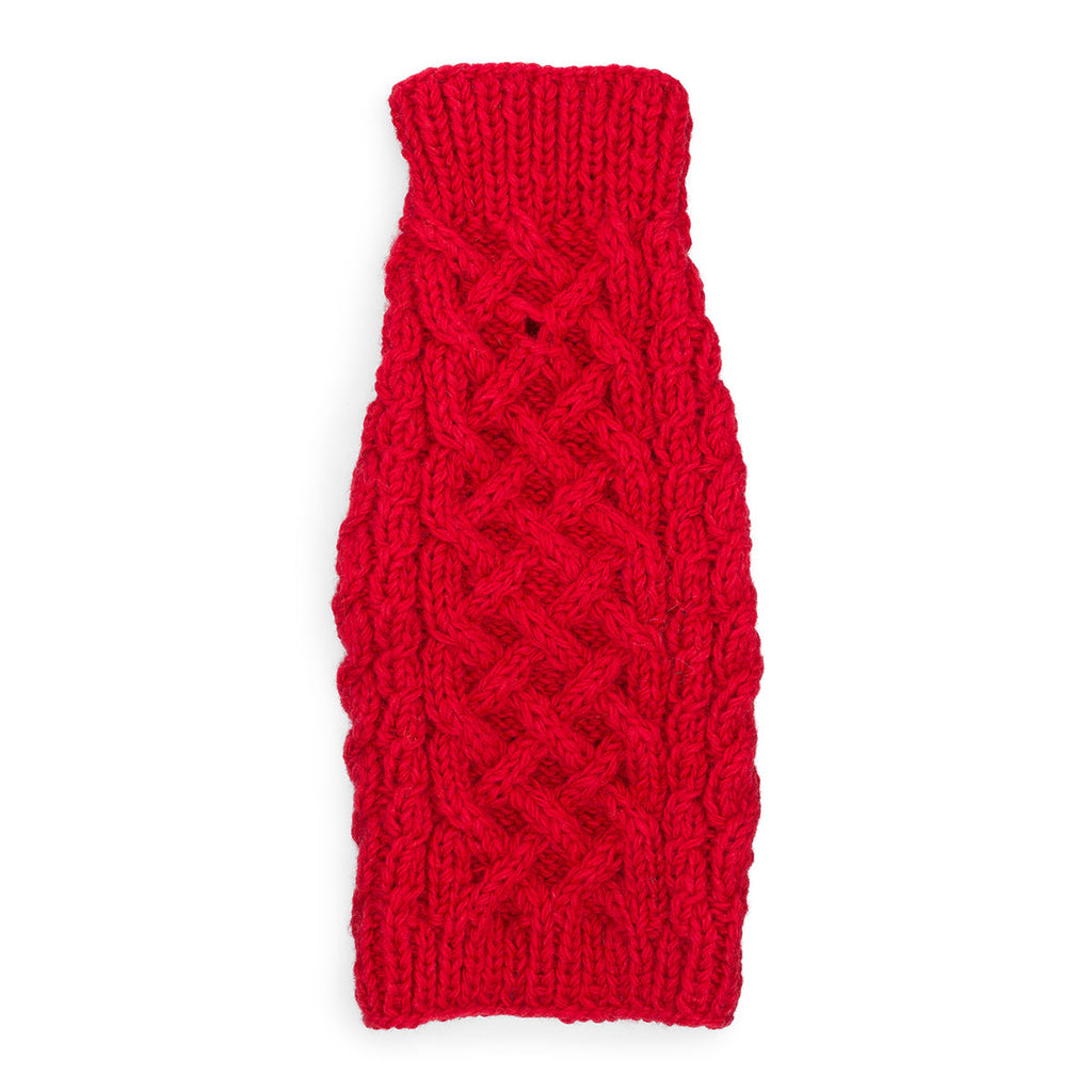 Cable Knit Sweater - Red