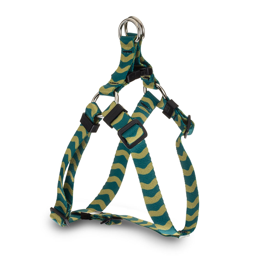Wavy Baby Webbing Harness - Green