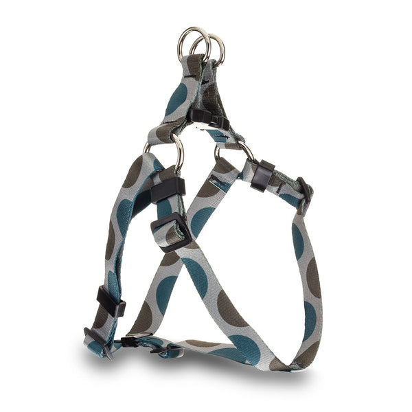Polka Dot Webbing Harness - Blue