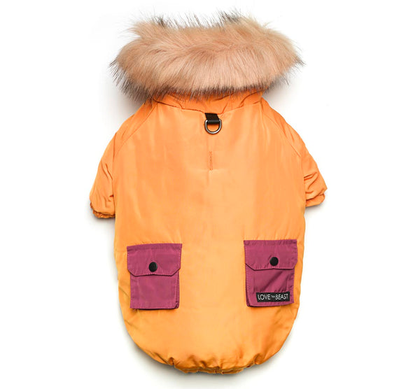 Merigold Colorblock Parka with Faux Fur Hood