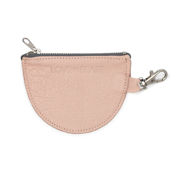 Blush Pebble Leather Pouch