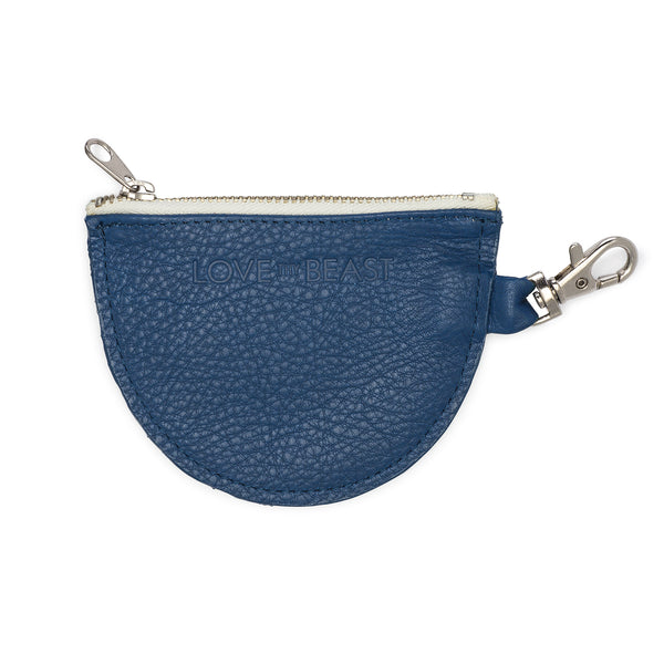 Cobalt Pebble Leather Pouch