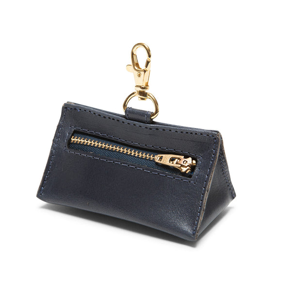 Leather Prism Pouch Navy