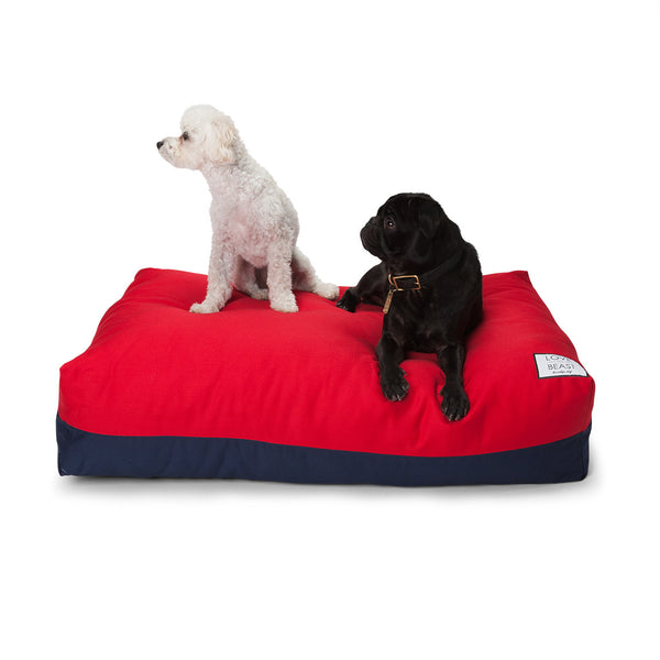 Flip Stitch Bed Red/Navy