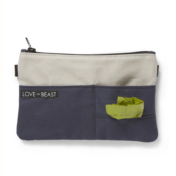 Canvas Pouch Navy - Cross body + Pet Tote Attachment