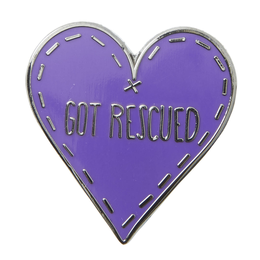 Got Rescued Enamel Pin