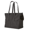 black canvas dog tote bag for subway commute