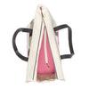 Canvas Pet Tote Natural & Pink