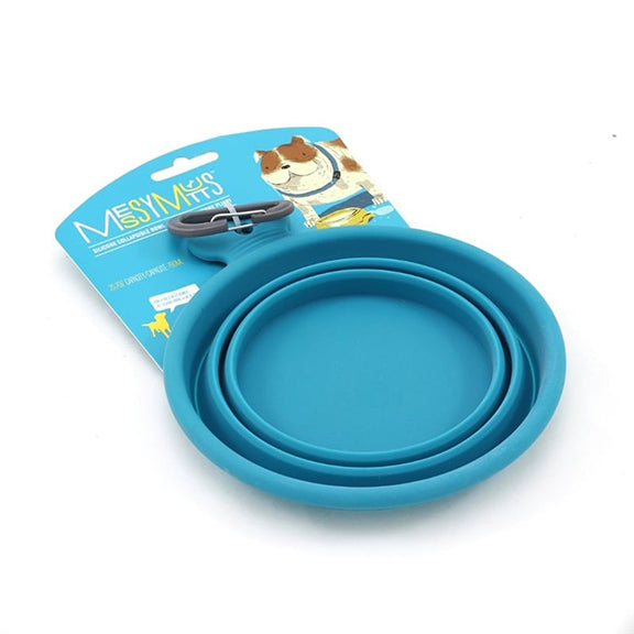 Portable - Collapsible  Dog Bowl - Blue