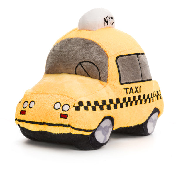 new york city taxi cab plush toy for dogs