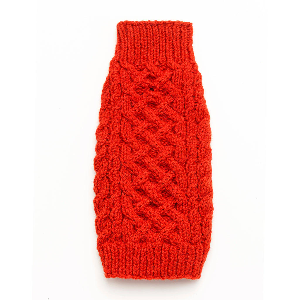 Cable Knit Sweater - Orange