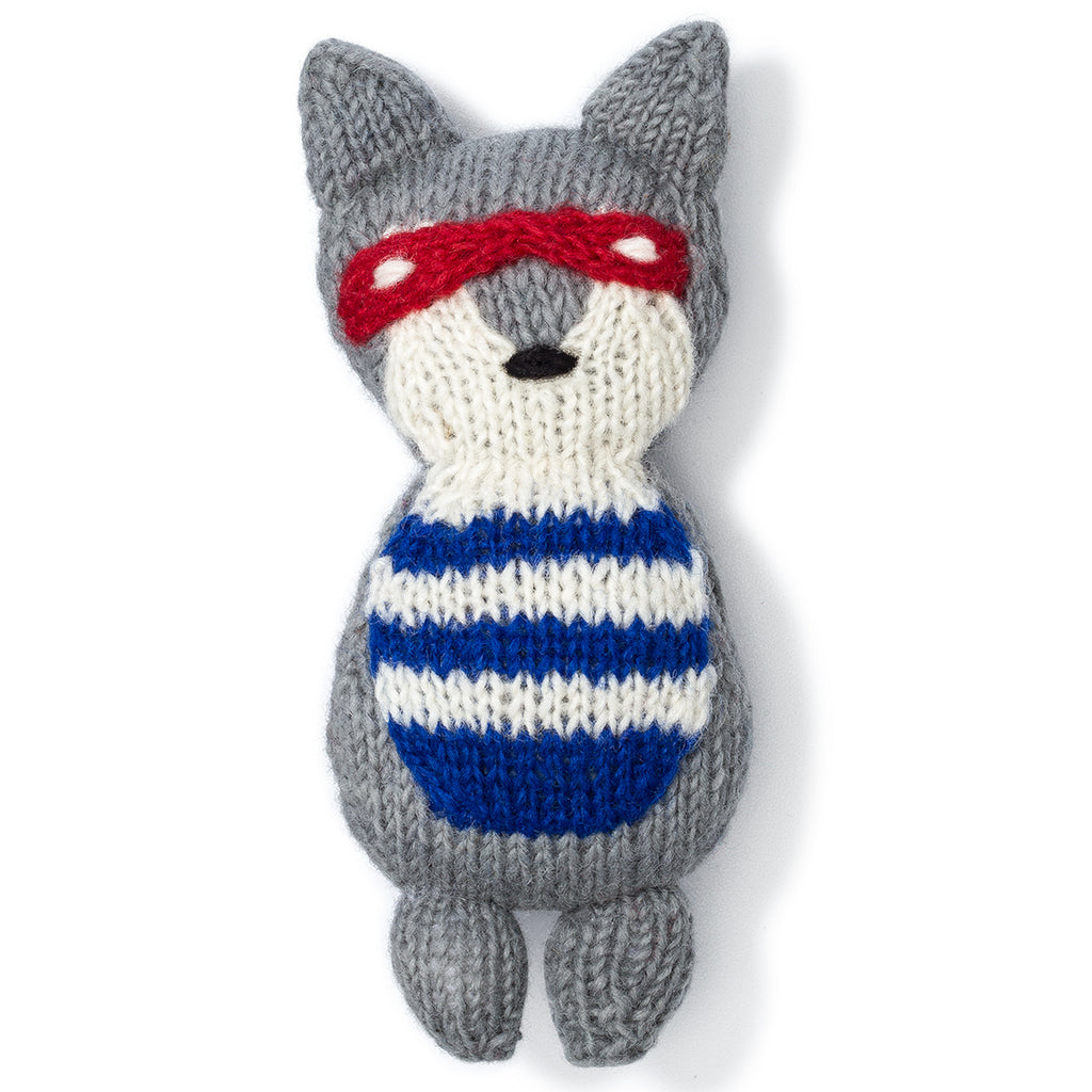 Raccoon Knit Toy