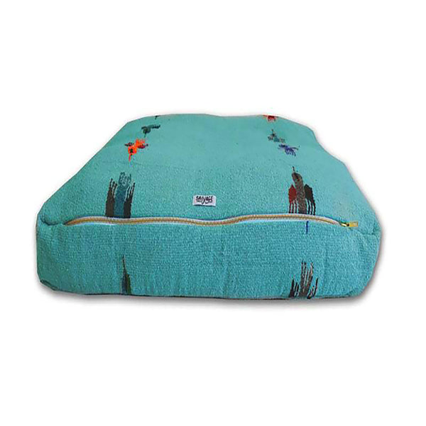 Thunderbird Rectangulo Bed - Teal