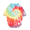 soft hand tie dyed cotton pet t shirt with rainbow colors