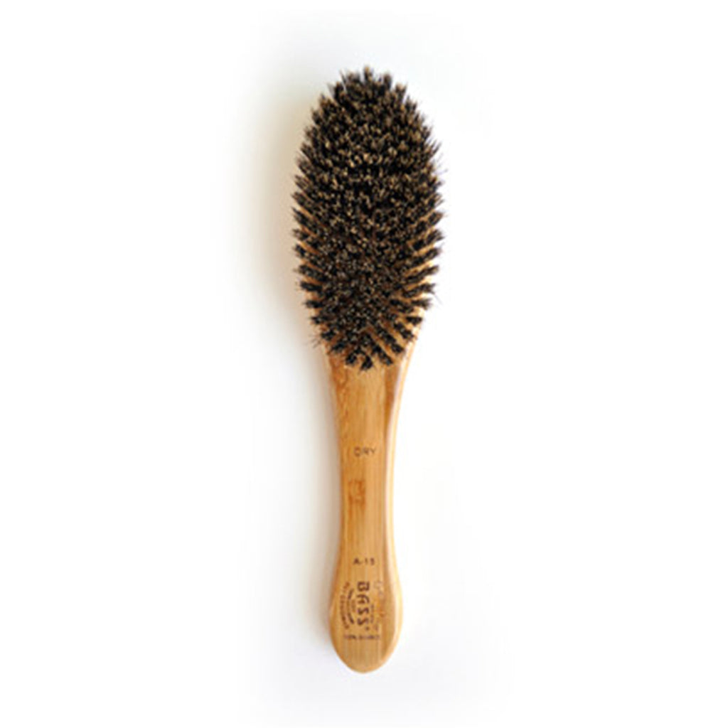 Bass Soft Boar Bristle Pet Groomer Brush - Medium