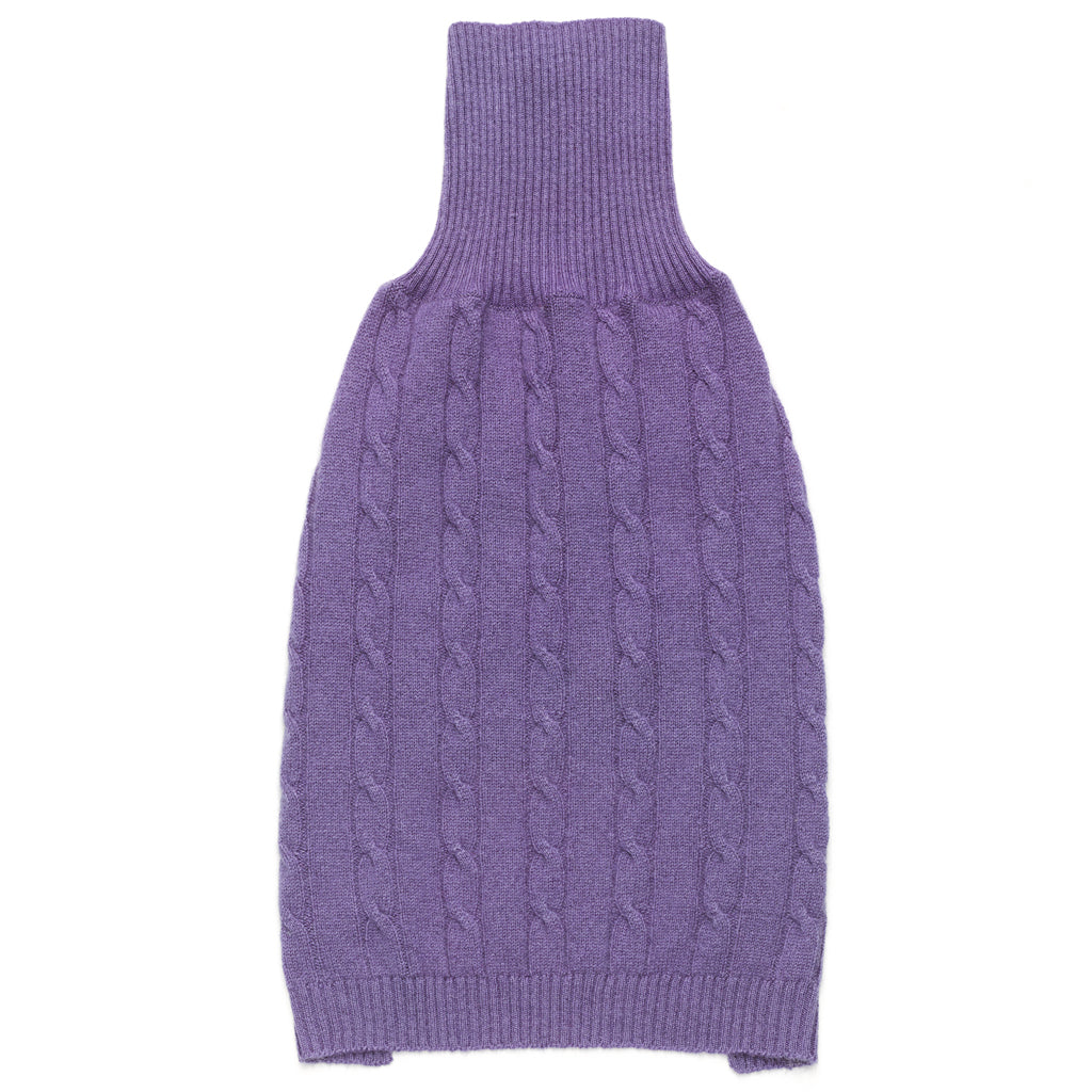 Cashmere Cable Knit Sweater in Violet