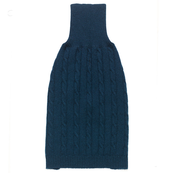 Cashmere Cable Knit Sweater in Indigo