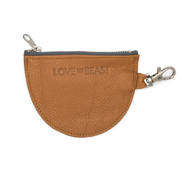 Caramel Pebble Leather Pouch