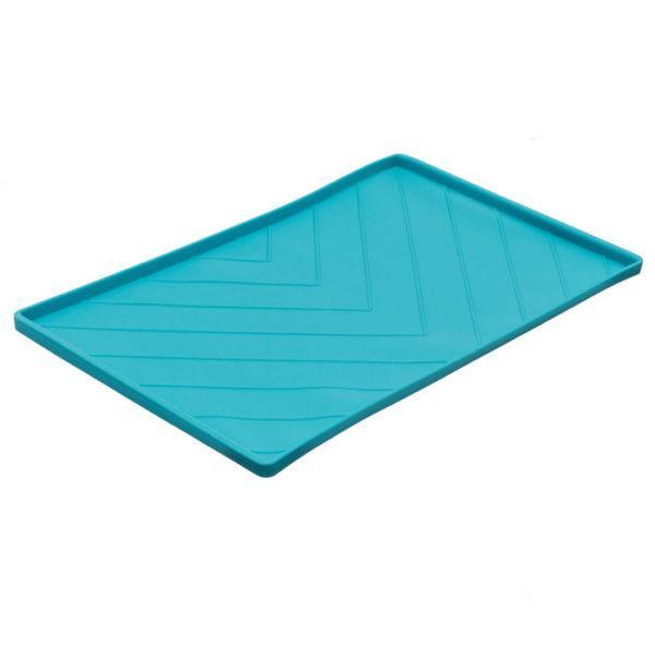 Chevron Silicone Food Mat - Blue
