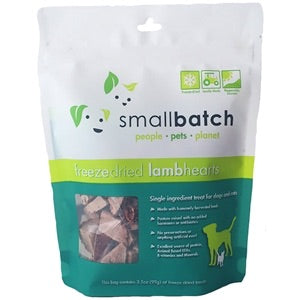 single ingredient freeze dried usa made lamb heart dog and cat treat