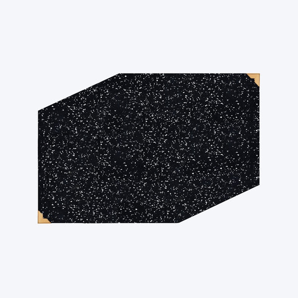 Speckle Rubber Placemat - Black