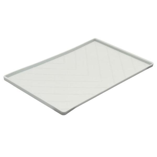 Chevron Silicone Food Mat - Light Gray
