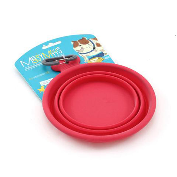 Portable - Collapsible  Dog Bowl - Red